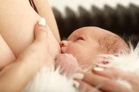 cute newborn eats
