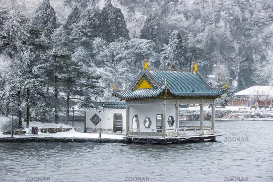 Mount Lushan in winter