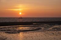 Wadden Sea at sunrise, Amrum, Germany