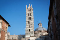 Bell tower of the cathedral of Siena