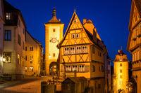 Rothenburg ob der Tauber at night