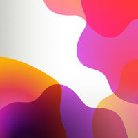 Orange And Lilac Abstract With Poster