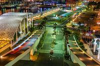 Night view of Kobe Meriken Park