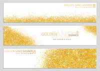 Golden Sand on White Banner Collection