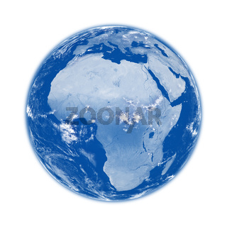Africa on blue Earth