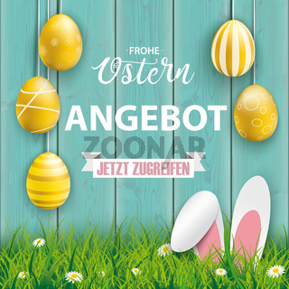 Frohe Ostern Angebot Wood Hare Ears Grass