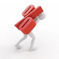 Businessman borrow loan with high interest rate