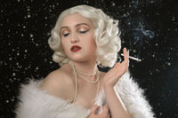 luxury woman smoking