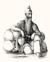 Maharaja Ranjit Singh, 1780 – 1839, the first Maharaja of the Sikh Empire, digitally optimized