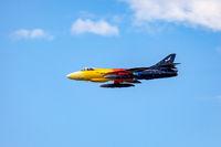 Hawker Hunter Miss Demeanour Aerial Display at Shoreham Airshow