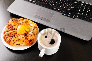 laptop and cup
