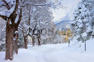 Seefeld Burg Winter - Seefeld castle in winter 01