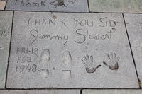 HOLLYWOOD, CALIFORNIA, USA - JULY 29 : Jimmy Stewart signature and handprints in Hollywood on July 29, 2011