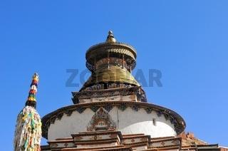 Die Augen des Tsuklahang-Tempel  Gyantse  Tibet China