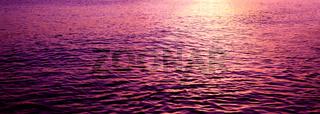 Sunset on the beach of caribbean sea.Summer background.