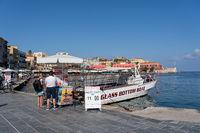 Glass Bottom Tour Boat on Crete