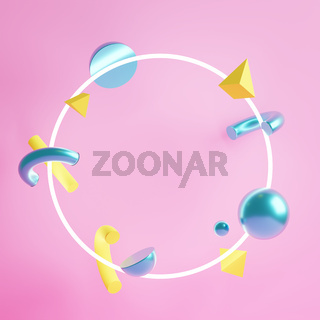 3d illustration. Colorful background with a space for a message.