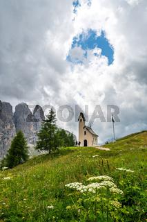 Little church at Gardena Pass