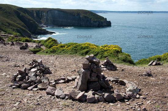 Steine der Erinnerung, Cap Fréhel, Bretagne