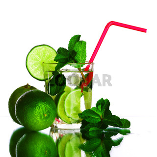 mojito isolated on white close up
