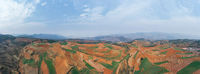 panoramic view of the yunnan red land landscape