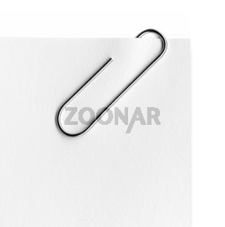 Scanned metal paper clip