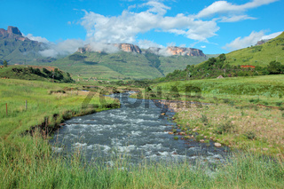 Tugela river and  mountains