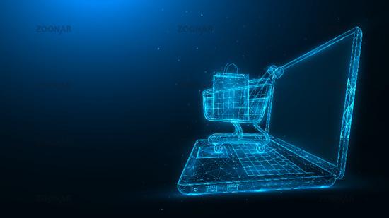 online shopping blue.eps