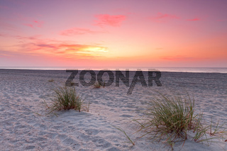 Sunset over Florida coastline