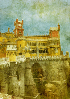vintage image of pena palace