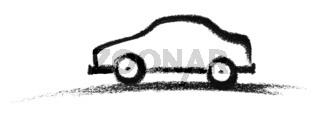 sketched car