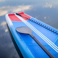 Deck of a racing stand up paddleboard