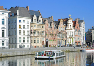 am Graslei in Gent