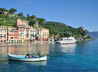 der bekannte Urlaubsort Portofino