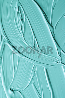 Mint cosmetic texture background, make-up and skincare cosmetics cream product, luxury beauty brand, holiday flatlay design or abstract wall art and paint strokes