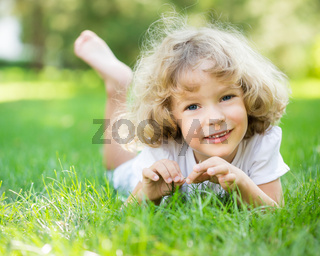 Happy child playing