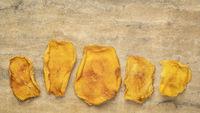 slices of dried mango fruit