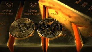 Fine Gold Bars Bitcoin Ethereum Coins