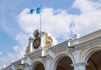 Detail of 'Palacio de los Capitanes Generales' - Palace of the Captains General, Antigua, Guatemala