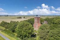 Luftaufnahme des Ochsenturms in Imsum