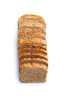 Sliced wholegrain bread.