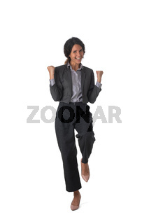 Successful excited business woman