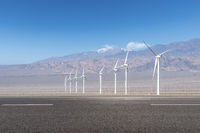 road and wind energy on western wilderness
