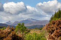 First glimpse of the Highlands of Scotland