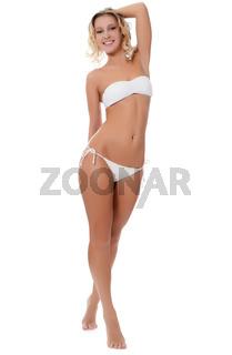 The beautiful girl in bikini
