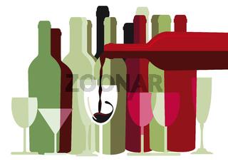 Wein Glaeser und Flaschen.jpg