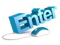 Enter word with blue mouse