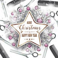 Merry Christmas Scissors Combs Cover