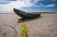 Boat at low tide