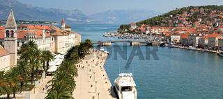 Panorama of Trogir,  famous touristic destination in Croatia